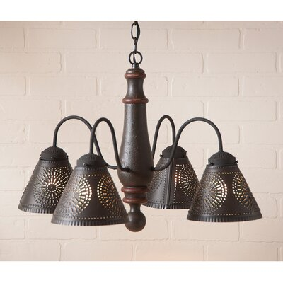 Westin Wood 4-Light Candle-Style Chandelier Finish: Americana Espresso