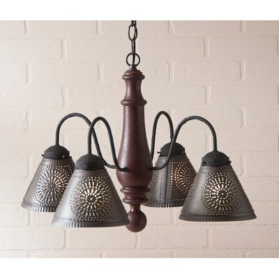 Westin Wood 4-Light Candle-Style Chandelier Finish: Americana Red