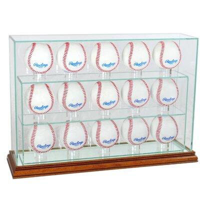 Fifteen Baseball Upright Display Case 15UPBSB-W