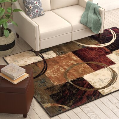 Upper Stanton Brown Area Rug Rug Size: Rectangle 53 x 76