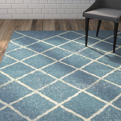 Verity Lattice Blue Area Rug Rug Size: Rectangle 8 x 10
