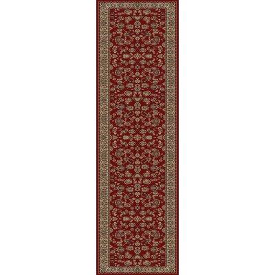 Egidio Elegant Red Area Rug  Rug Size: Runner 3 x 14
