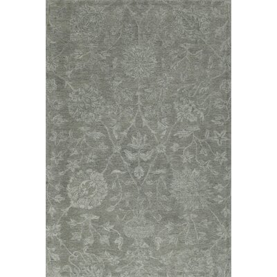 Chatmon Hand-Tufted Wool Silver Area Rug Rug Size: Rectangle 5 x 76