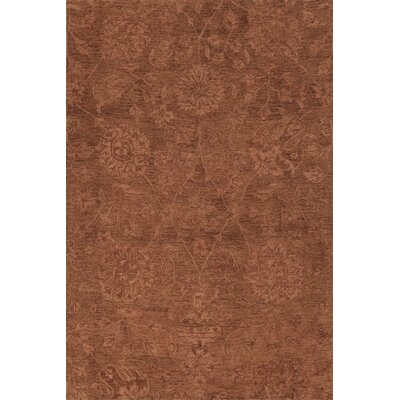Chatmon Hand-Tufted Wool Copper Area Rug Rug Size: Rectangle 36 x 56
