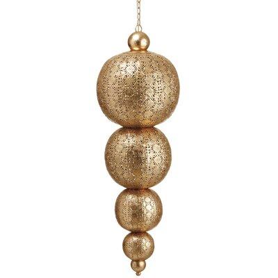 Metal Filigree Hanging 1-Light Pendant