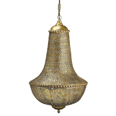 Moncada Metal Filigree Hanging 1-Light Empire Chandelier