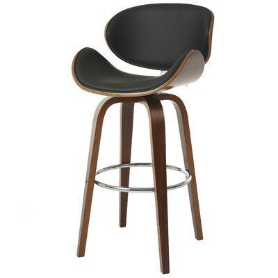 Cuadrado 30 Swivel Bar Stool Color: Black