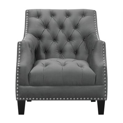Hubbert Armchair Upholstery: Charcoal