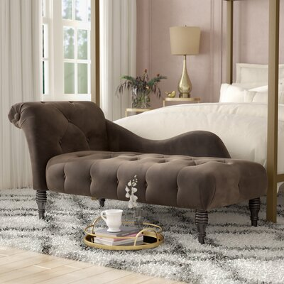 Dagnall Fabric Chaise Lounge Upholstery: Gray