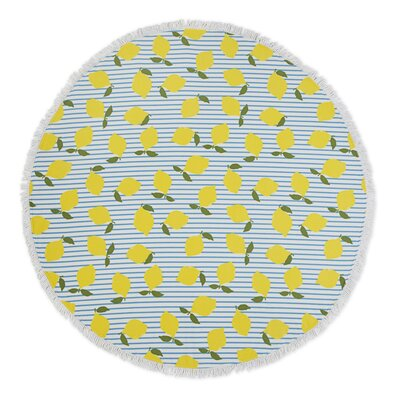 Lemon Stripe Beach Towel