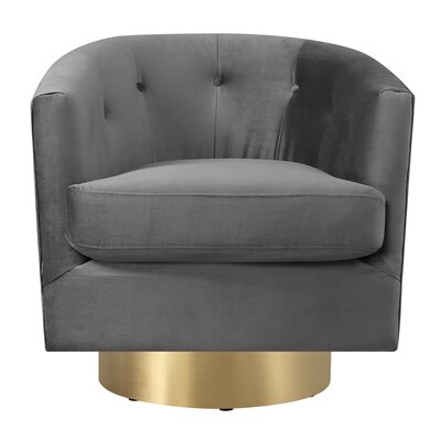 Huang Swivel Barrel Upholstery: Slate