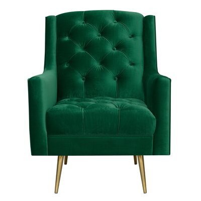 Hubbard Armchair Upholstery: Emerald