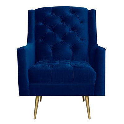 Hubbard Armchair Upholstery: Navy Blue