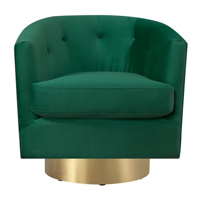 Huang Swivel Barrel Upholstery: Emerald