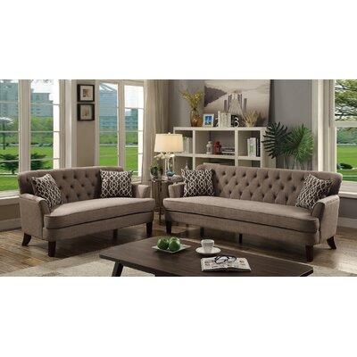 Jacinto 2 Piece Living Room Set Upholstery: Mocha