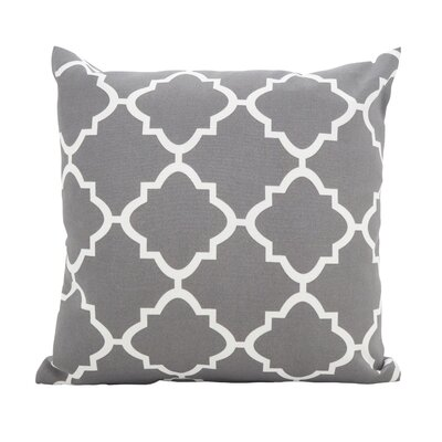 Farrington Moroccan Outdoor Throw Pillow Color: Gray, Size: 17 x 17
