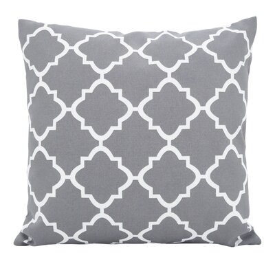 Farrington Moroccan Outdoor Throw Pillow Color: Gray, Size: 21 x 21