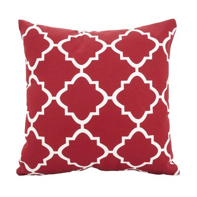 Farrington Moroccan Outdoor Throw Pillow Color: Red, Size: 17 x 17