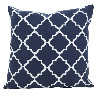 Farrington Moroccan Outdoor Throw Pillow Color: Blue, Size: 21 x 21
