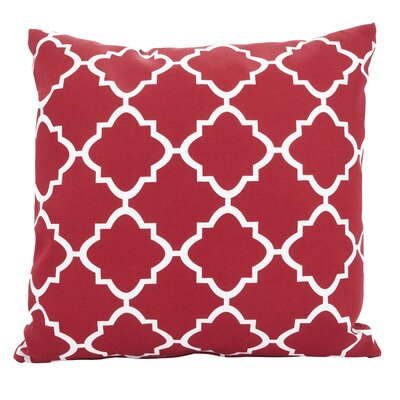 Farrington Moroccan Outdoor Throw Pillow Color: Red, Size: 21 x 21
