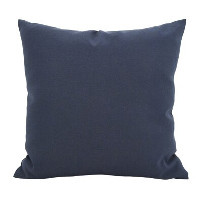 Fewell Outdoor Throw Pillow Color: Blue, Size: 21 x 21