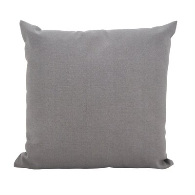 Fewell Outdoor Throw Pillow Color: Gray, Size: 17 x 17
