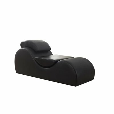 Studer Chaise Lounge Upholstery: Black