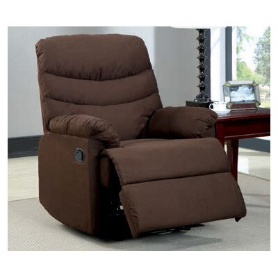 Gwin Manual Recliner Upholstery: Brown