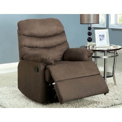 Gwin Manual Recliner Upholstery: Buff