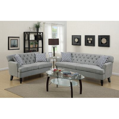 Jackson Heights 2 Piece Living Room Set Upholstery: Taupe