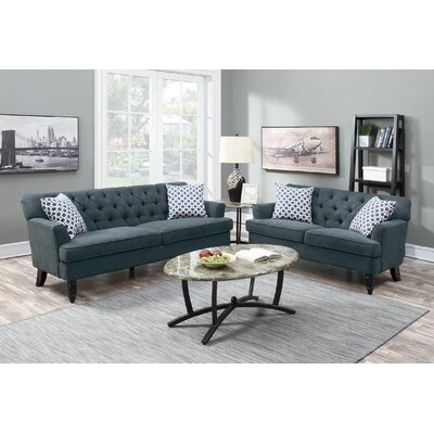 Jackson Heights 2 Piece Living Room Set Upholstery: Slate