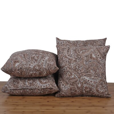 Paisley Throw Pillow Color: Carafe