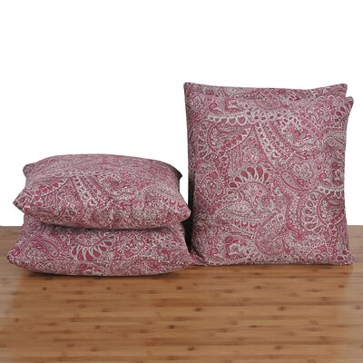 Paisley Throw Pillow Color: Rose Pink