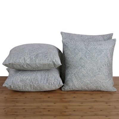 Paisley Throw Pillow Color: Harbor