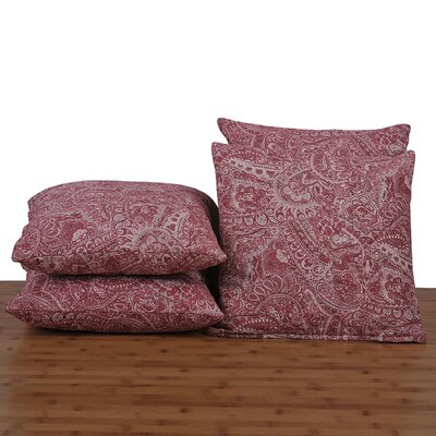 Paisley Throw Pillow Color: Red