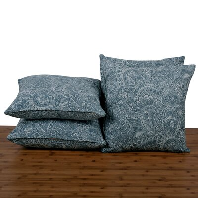 Paisley Throw Pillow Color: Silver Blue