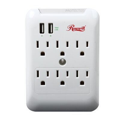 Wall Mounted Outlet with 2 USB Ports