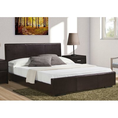 Hindes Upholstered Platform Bed Color: Brown, Size: Twin