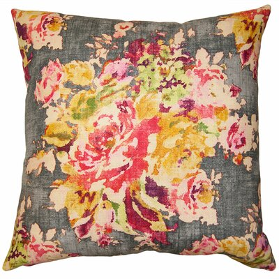 Rainbow Floral Pillow Size: 22 x 22