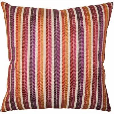Rainbow Stripe Pillow Size: 12 x 24