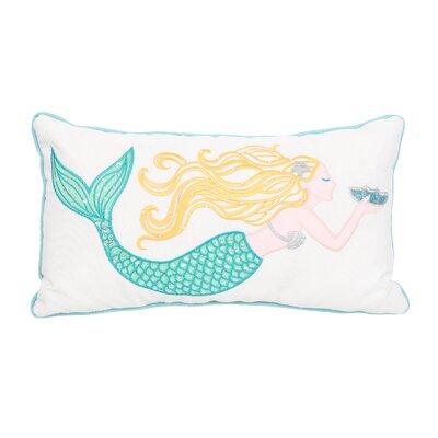 Hempstead Mermaid Embroidered Lumbar Pillow