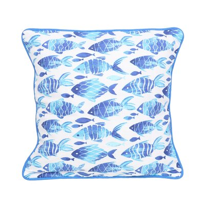 Phuong Fish Cotton Throw Pillow