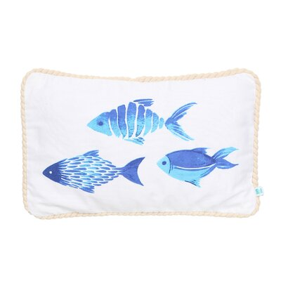 Phuong Fish Cotton Lumbar Pillow