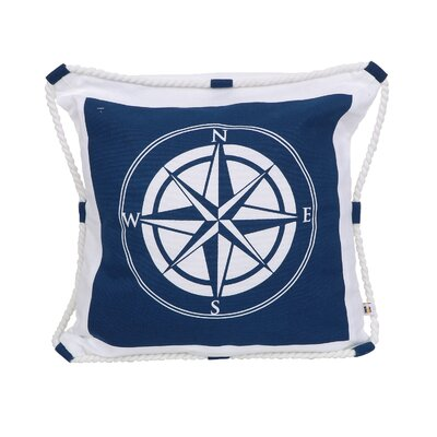 Eppinger Compass Rose Cotton Throw Pillow