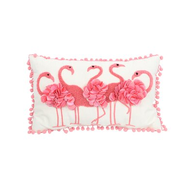 Lynnhaven Flamingo Throw Pillow