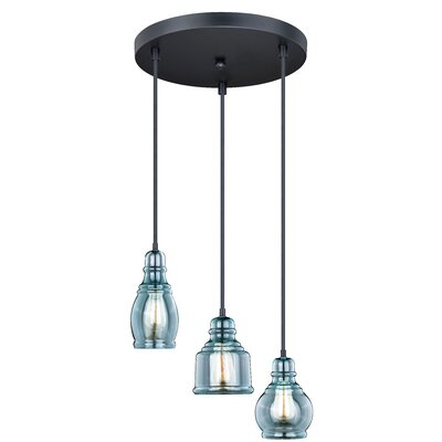 Pickett 3-Light Cluster Pendant Color: Oil Rubbed Bronze