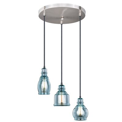 Pickett 3-Light Cluster Pendant Color: Satin Nickel