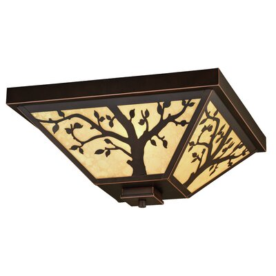 Baynham Outdoor 3-Light Flush Mount