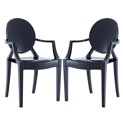 Hendrick Dining Chair Color: Black