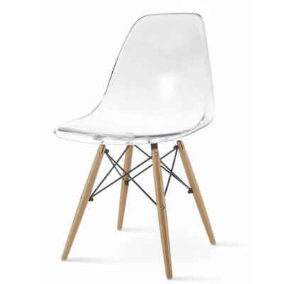 Christenson Scoop Shell Dining Chair Color: Clear